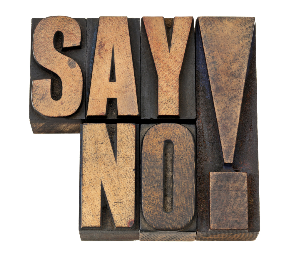 Saying no not a bad thing for time management