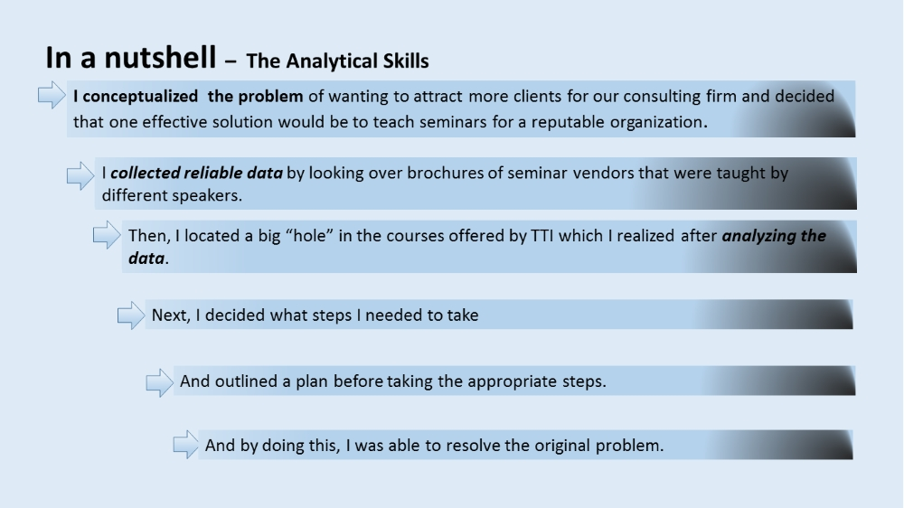How to use your analytical skills